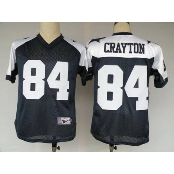 Cowboys #84 Patrick Crayton Blue Thanksgiving Stitched Throwback NFL Jersey