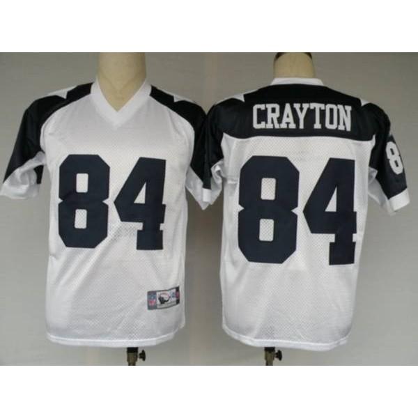 Cowboys #84 Patrick Crayton White Thanksgiving Stitched Throwback NFL Jersey
