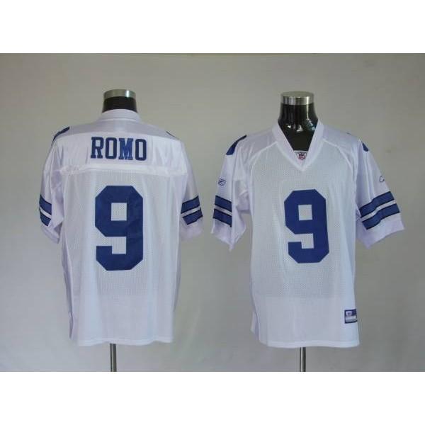 Cowboys #9 Tony Romo White Stitched NFL Jersey