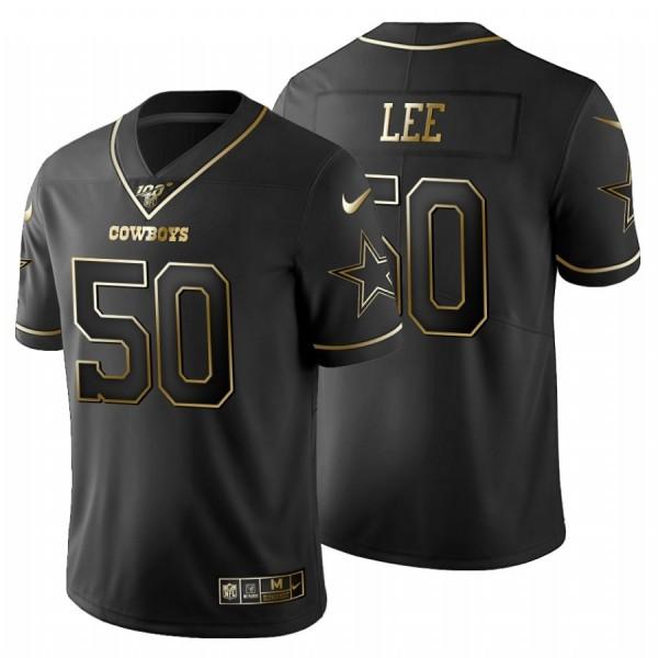 Dallas Cowboys #50 Dean Lee Men's Nike Black Golden Limited NFL 100 Jersey