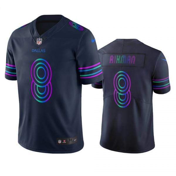 Dallas Cowboys #8 Troy Aikman Navy Vapor Limited City Edition NFL Jersey