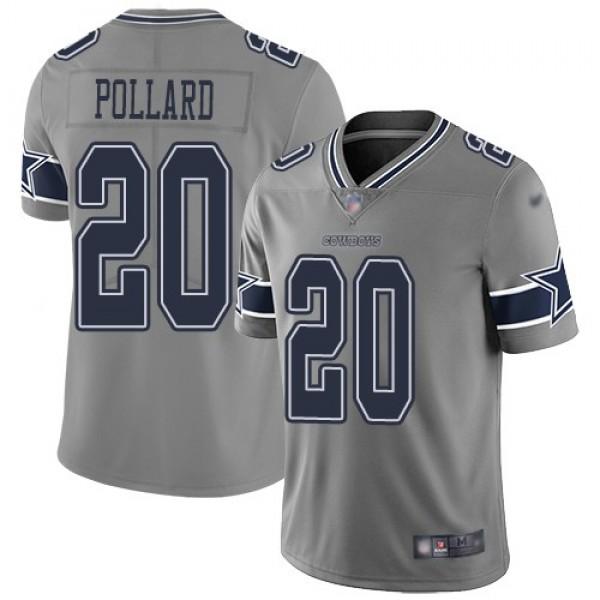 Nike Cowboys #20 Tony Pollard Gray Men's Stitched NFL Limited Inverted Legend Jersey