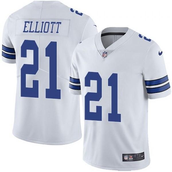 Nike Cowboys #21 Ezekiel Elliott White Men's Stitched NFL Vapor Untouchable Limited Jersey