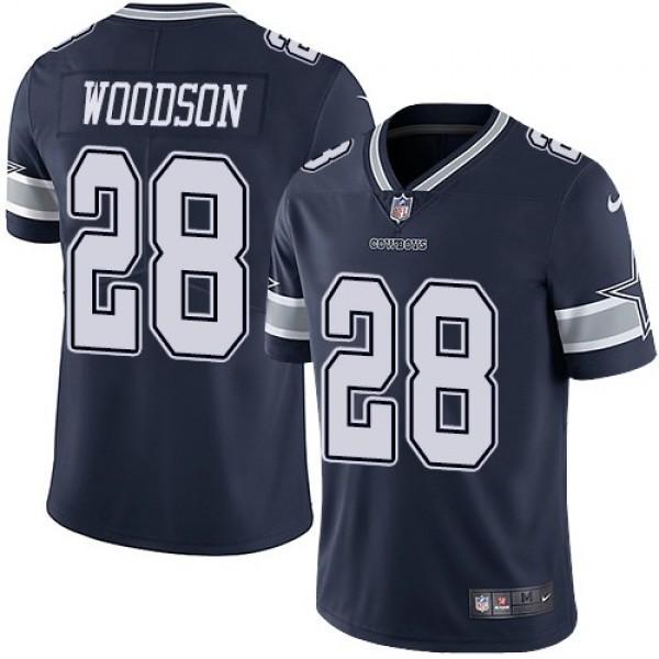 Nike Cowboys #28 Darren Woodson Navy Blue Team Color Men's Stitched NFL Vapor Untouchable Limited Jersey