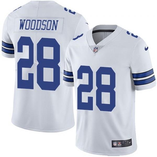 Nike Cowboys #28 Darren Woodson White Men's Stitched NFL Vapor Untouchable Limited Jersey