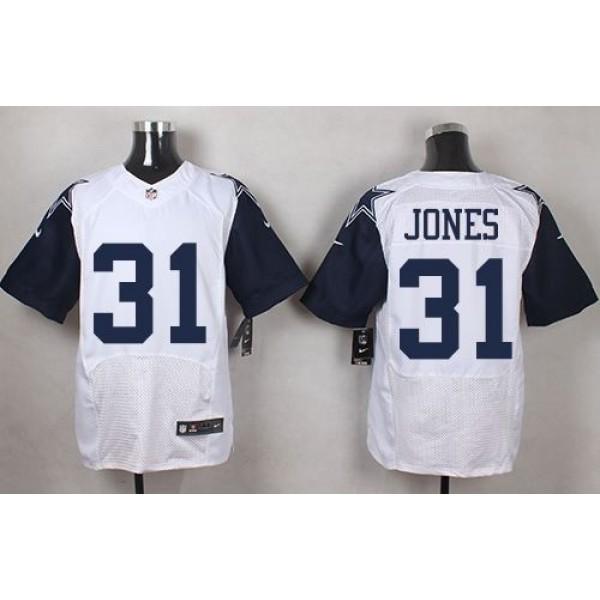 Nike Cowboys #31 Byron Jones White Men's Stitched NFL Elite Rush Jersey
