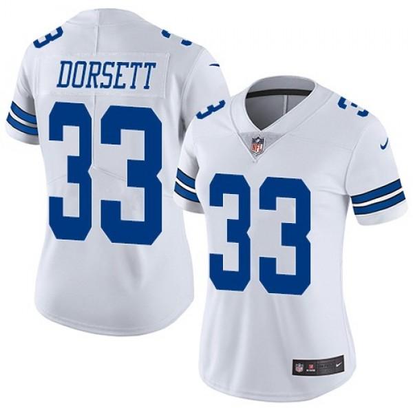 Women's Cowboys #33 Tony Dorsett White Stitched NFL Vapor Untouchable Limited Jersey