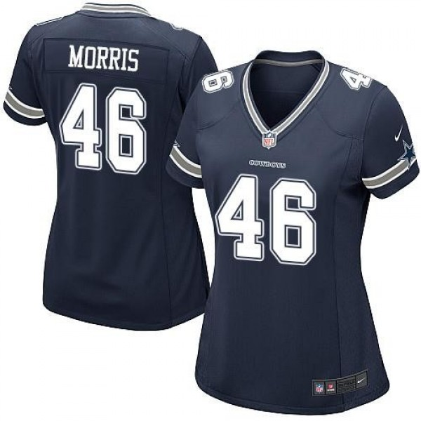 Women's Cowboys #46 Alfred Morris Navy Blue Team Color Stitched NFL Elite Jersey