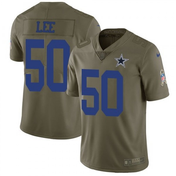 Nike Cowboys #50 Sean Lee Olive Men's Stitched NFL Limited 2017 Salute To Service Jersey