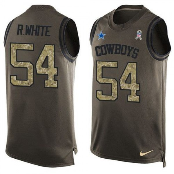 Nike Cowboys #54 Randy White Green Men's Stitched NFL Limited Salute To Service Tank Top Jersey