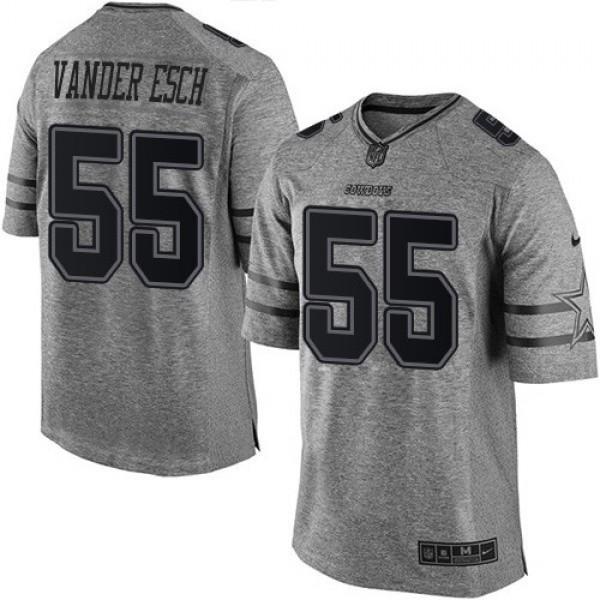 Nike Cowboys #55 Leighton Vander Esch Gray Men's Stitched NFL Limited Gridiron Gray Jersey