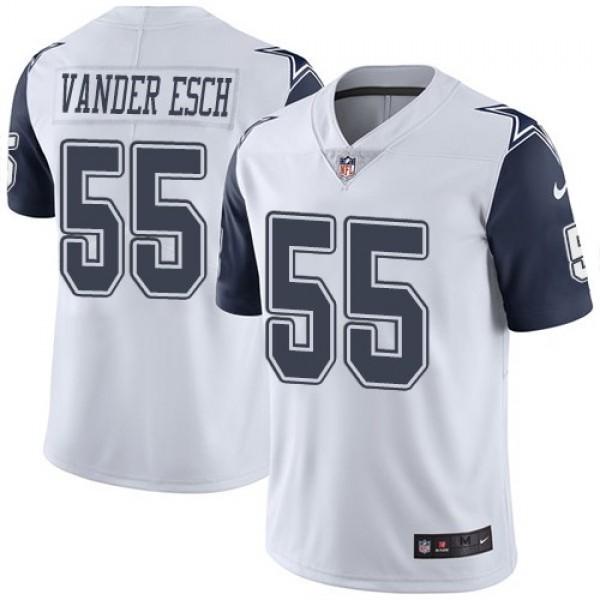 Nike Cowboys #55 Leighton Vander Esch White Men's Stitched NFL Limited Rush Jersey