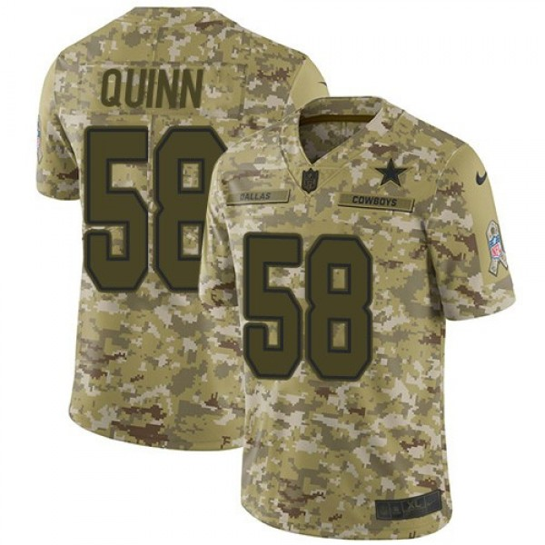 Nike Cowboys #58 Robert Quinn Camo Men's Stitched NFL Limited 2018 Salute To Service Jersey