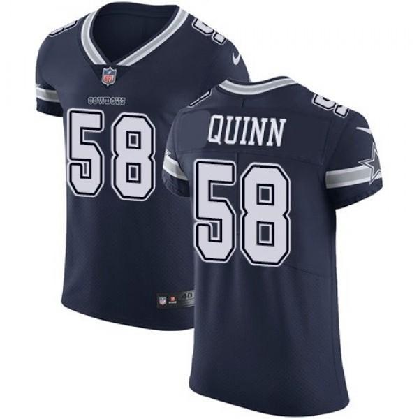 Nike Cowboys #58 Robert Quinn Navy Blue Team Color Men's Stitched NFL Vapor Untouchable Elite Jersey
