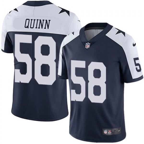 Nike Cowboys #58 Robert Quinn Navy Blue Thanksgiving Men's Stitched NFL Vapor Untouchable Limited Throwback Jersey