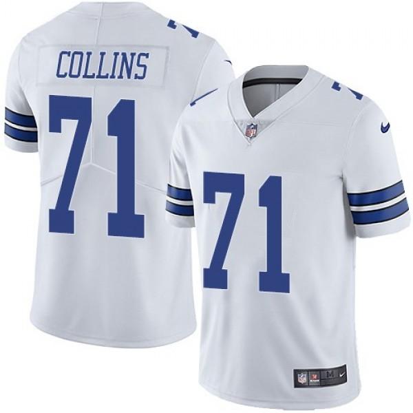 Nike Cowboys #71 La'el Collins White Men's Stitched NFL Vapor Untouchable Limited Jersey