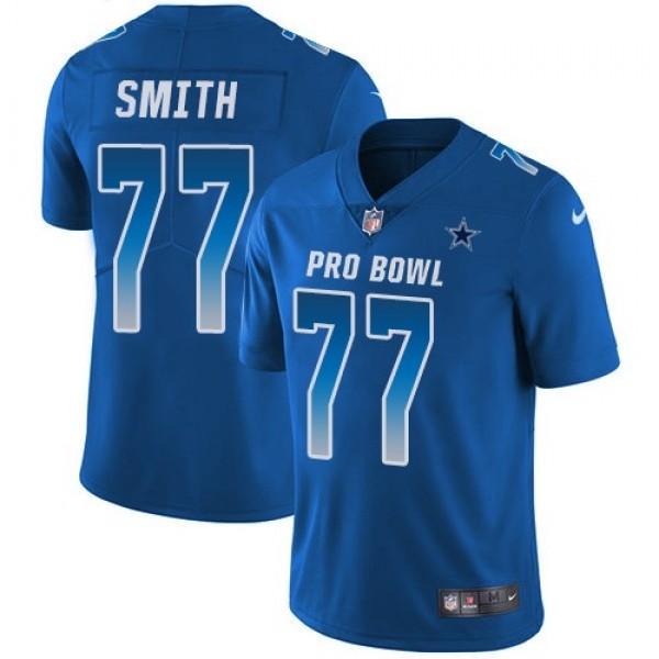 Nike Cowboys #77 Tyron Smith Royal Men's Stitched NFL Limited NFC 2019 Pro Bowl Jersey