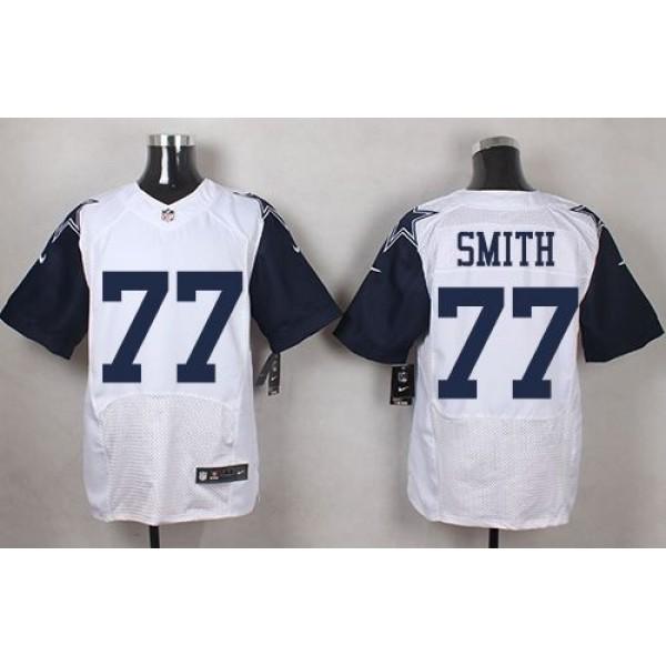 Nike Cowboys #77 Tyron Smith White Men's Stitched NFL Elite Rush Jersey