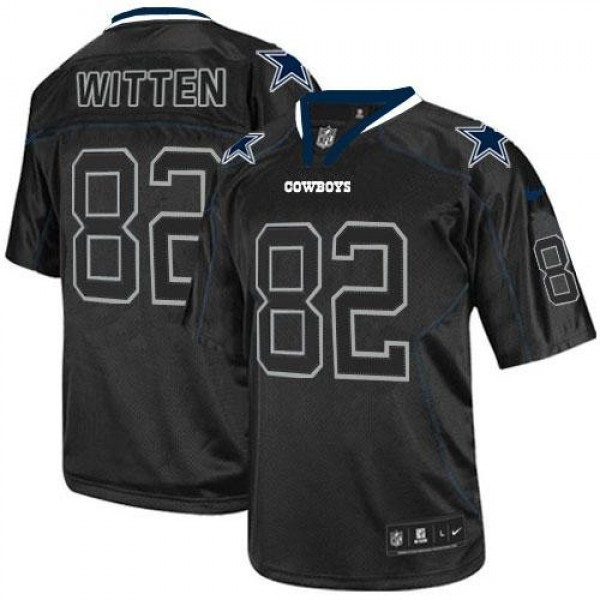 Nike Cowboys #82 Jason Witten Lights Out Black Men's Stitched NFL Elite Jersey