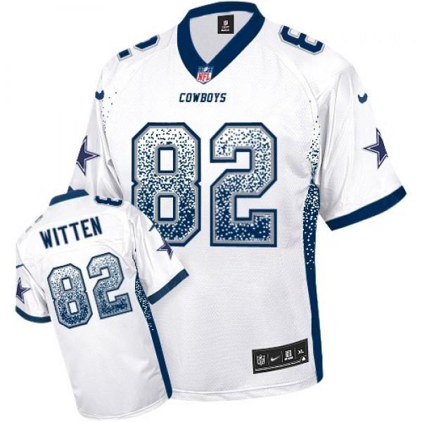 Nike Cowboys #82 Jason Witten White Men's Stitched NFL Elite Drift Fashion Jersey
