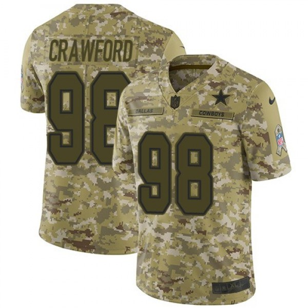Nike Cowboys #98 Tyrone Crawford Camo Men's Stitched NFL Limited 2018 Salute To Service Jersey