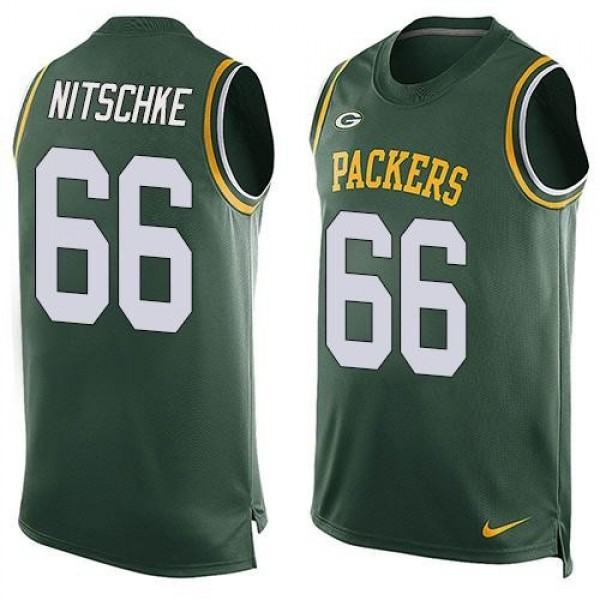 Nike Packers #66 Ray Nitschke Green Team Color Men's Stitched NFL Limited Tank Top Jersey