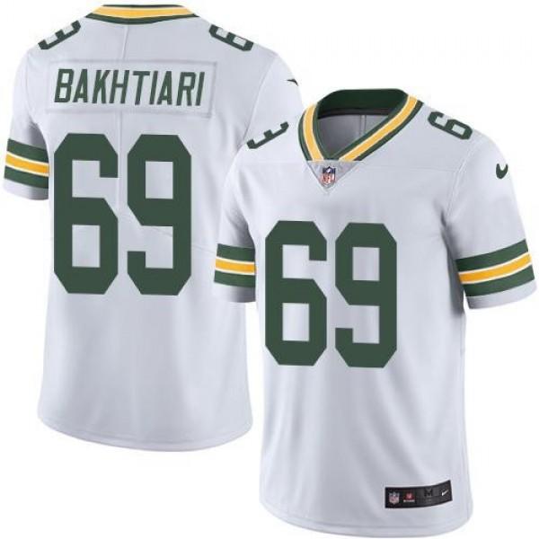 Nike Packers #69 David Bakhtiari White Men's Stitched NFL Vapor Untouchable Limited Jersey