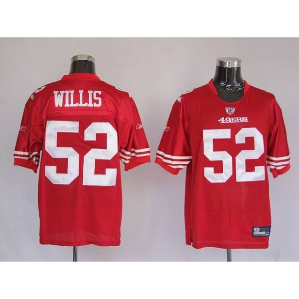 49ers #52 Patrick Willis Stitched Red NFL Jersey