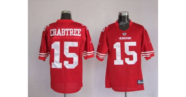 49ers Michael Crabtree #15 Stitched Red NFL Jersey,NFL Jersey ...