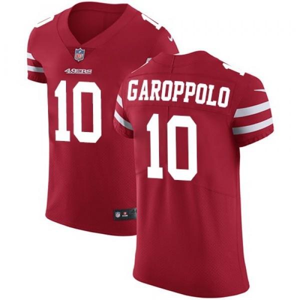 Nike 49ers #10 Jimmy Garoppolo Red Team Color Men's Stitched NFL Vapor Untouchable Elite Jersey