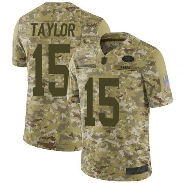 Nike 49ers #15 Trent Taylor Camo Men's Stitched NFL Limited 2018 Salute To Service Jersey