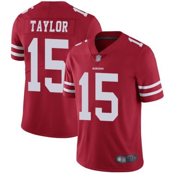 Nike 49ers #15 Trent Taylor Red Team Color Men's Stitched NFL Vapor Untouchable Limited Jersey