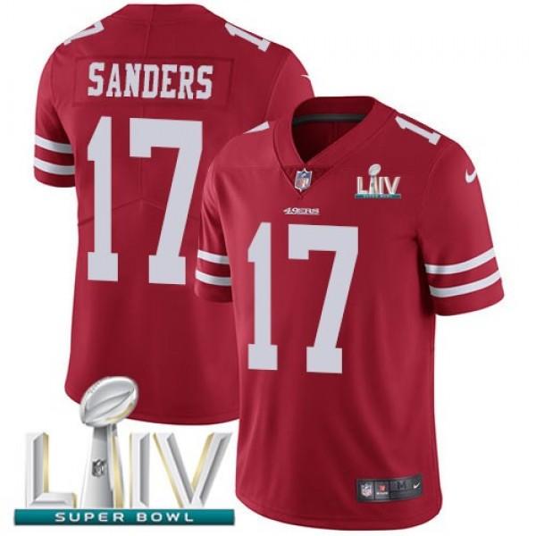 Nike 49ers #17 Emmanuel Sanders Red Super Bowl LIV 2020 Team Color Men's Stitched NFL Vapor Untouchable Limited Jersey