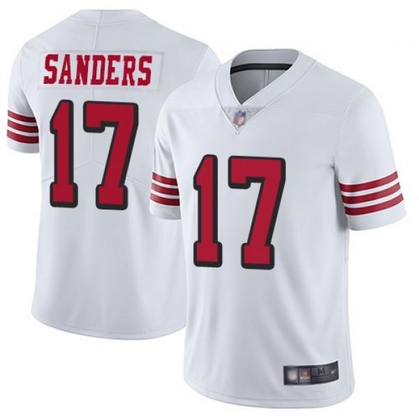 Nike 49ers #17 Emmanuel Sanders White Rush Men's Stitched NFL Vapor Untouchable Limited Jersey