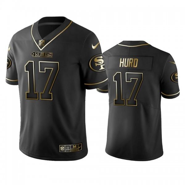 Nike 49ers #17 Jalen Hurd Black Golden Limited Edition Stitched NFL Jersey
