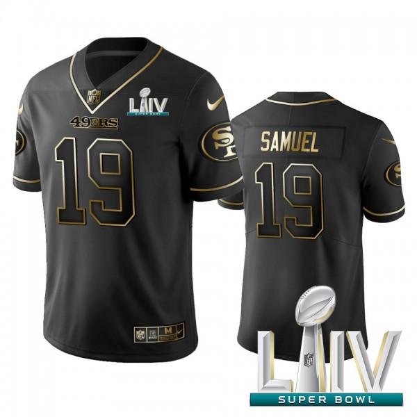 Nike 49ers #19 Deebo Samuel Black Golden Super Bowl LIV 2020 Limited Edition Stitched NFL Jersey