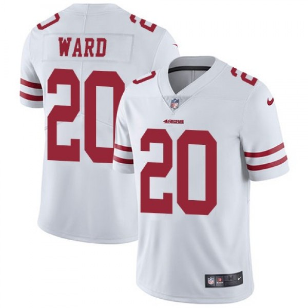 Nike 49ers #20 Jimmie Ward White Men's Stitched NFL Vapor Untouchable Limited Jersey
