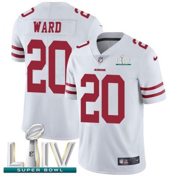 Nike 49ers #20 Jimmie Ward White Super Bowl LIV 2020 Men's Stitched NFL Vapor Untouchable Limited Jersey