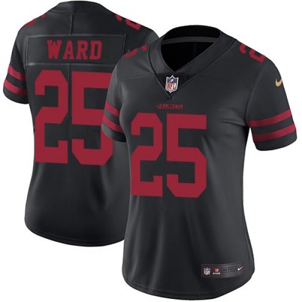 Women's 49ers #25 Jimmie Ward Black Alternate Stitched NFL Vapor Untouchable Limited Jersey