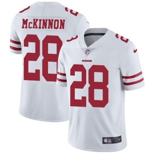 Nike 49ers #28 Jerick McKinnon White Men's Stitched NFL Vapor Untouchable Limited Jersey