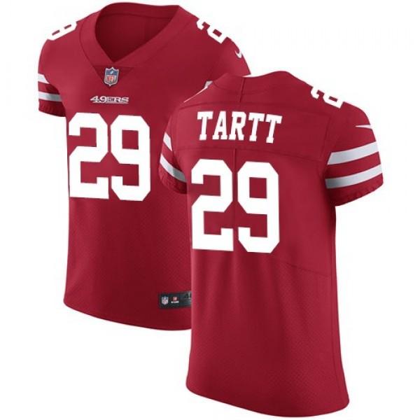 Nike 49ers #29 Jaquiski Tartt Red Team Color Men's Stitched NFL Vapor Untouchable Elite Jersey