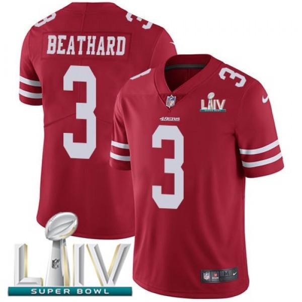 Nike 49ers #3 C.J. Beathard Red Super Bowl LIV 2020 Team Color Men's Stitched NFL Vapor Untouchable Limited Jersey
