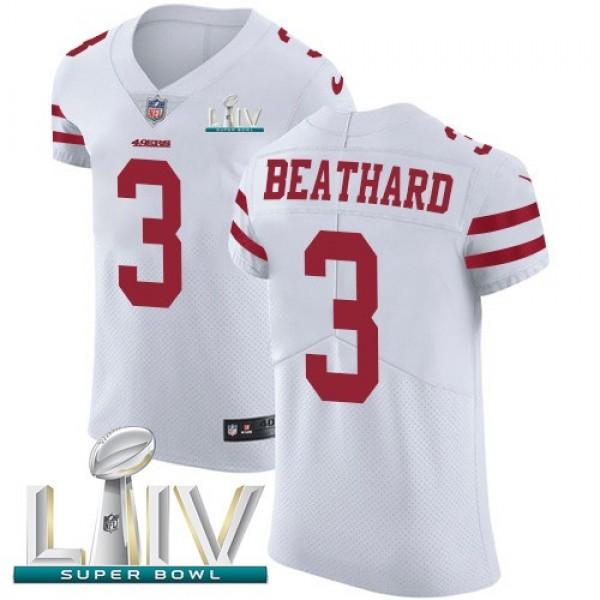 Nike 49ers #3 C.J. Beathard White Super Bowl LIV 2020 Men's Stitched NFL Vapor Untouchable Elite Jersey