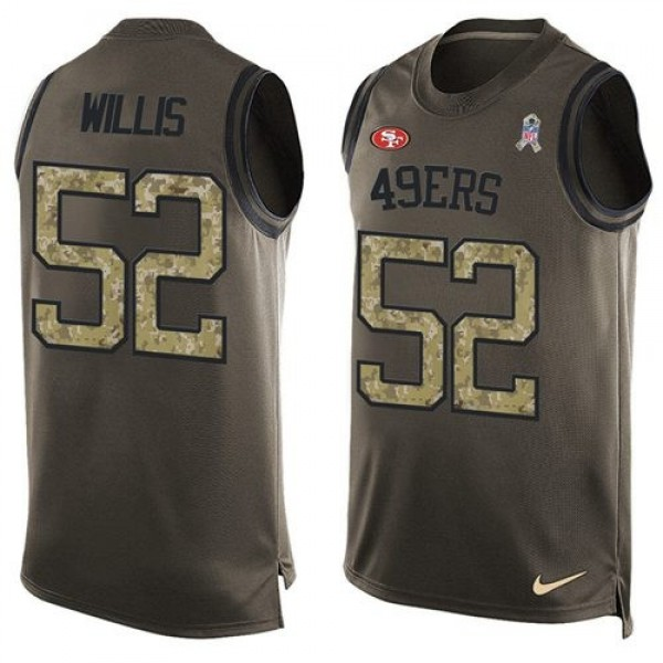 Nike 49ers #52 Patrick Willis Green Men's Stitched NFL Limited Salute To Service Tank Top Jersey