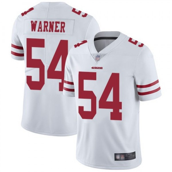 Nike 49ers #54 Fred Warner White Men's Stitched NFL Vapor Untouchable Limited Jersey
