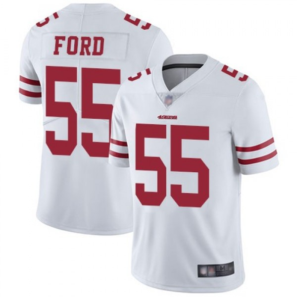 Nike 49ers #55 Dee Ford White Men's Stitched NFL Vapor Untouchable Limited Jersey