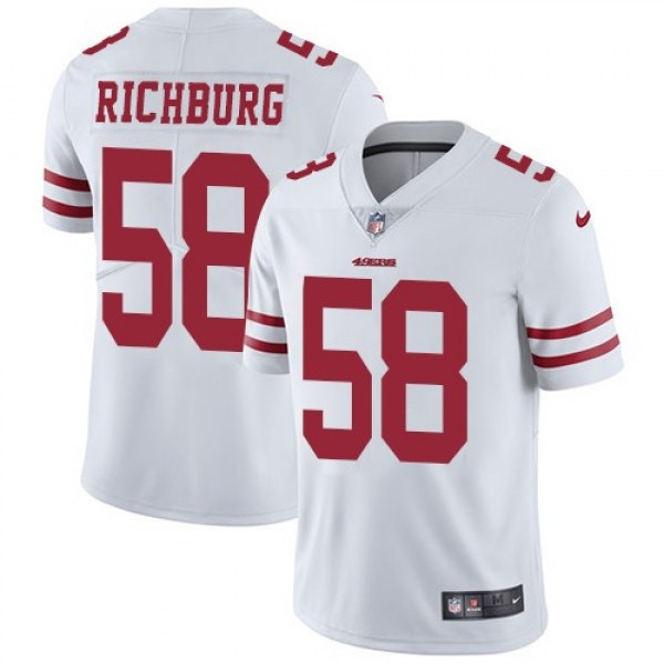 Nike 49ers #58 Weston Richburg White Men's Stitched NFL Vapor Untouchable Limited Jersey