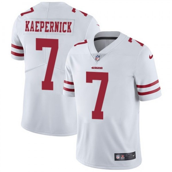 Nike 49ers #7 Colin Kaepernick White Men's Stitched NFL Vapor Untouchable Limited Jersey