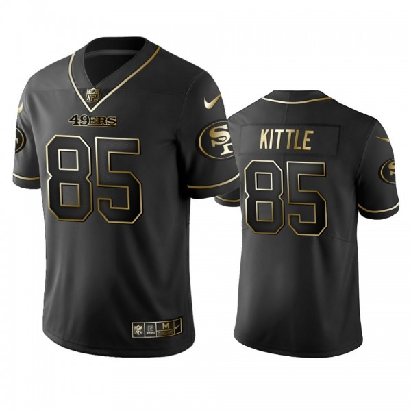 Nike 49ers #85 George Kittle Black Golden Limited Edition Stitched NFL Jersey
