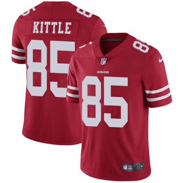 Nike 49ers #85 George Kittle Red Team Color Men's Stitched NFL Vapor Untouchable Limited Jersey